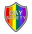 gay protection sign shield in lgbt flag vector image