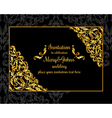 Gold ornamental card with antique luxury black vector image