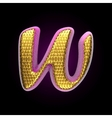 golden and pink letter w vector image vector image