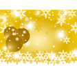 Golden Christmas background with Christmas balls vector image