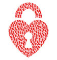 heart lock collage of dollar and dots vector image