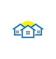 home real estate sun business logo vector image vector image