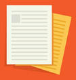 icon of documents vector image vector image