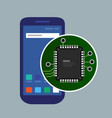 internal phone device circuit board a vector image