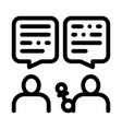 interview discuss icon outline vector image