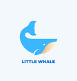 little whale abstract emblem label logo vector image vector image
