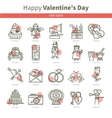 Love Romance Icons outline vector image