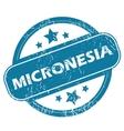 MICRONESIA round stamp vector image