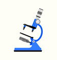 microscope isolated flat vector image vector image