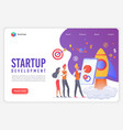 modern flat design concept startup development vector image