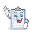 okay clipboard character cartoon style vector image vector image