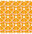 orange slices seamless pattern flat food texture vector image