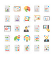 pack flat relating business analytics t vector image