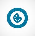 painter palette bold blue border circle icon vector image