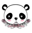 panda bear drawing cartoon vector image vector image