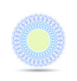 pastel blue and green lace pattern round label vector image vector image