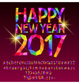 Patch sparkling Happy New Year 2017 greeting card vector image vector image