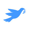 peace symbol dove carrying branch symbol design vector image