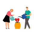 people caring love vector image vector image