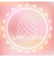 Pink easter logo vector image vector image