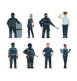 police officers policeman and security guard vector image