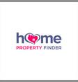 property finder logo template vector image vector image