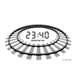 Railway clocks vector image vector image