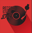 record store day retro vintage template 1 vector image vector image