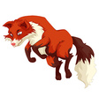 red fox jumping up vector image