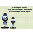 Respect your parents vector image vector image