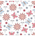 seamless pattern with cute elements vector image