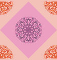 seamless pattern with pink ornamental decor vector image vector image