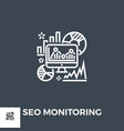 seo audit icon vector image vector image