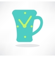 Simplistic coffee cup icon vector image