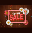 spring sale banner season sale banner with white vector image vector image