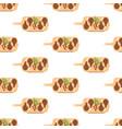 steak meat on board seamless pattern vector image vector image