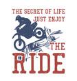 t shirt design secret life just enjoy vector image