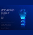ui neon isometric stock background eps 10 vector image
