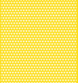 yellow heart shape pattern vector image vector image