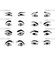 description of human emotions eyes vector image