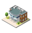isometric police department building vector image