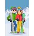 couple young people man vector image
