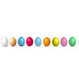 realistic chicken decorated easter egg vector image