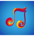 music rainbow vector image