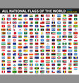 all official national flags of the world vector image