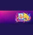 art studio concept banner header vector image vector image