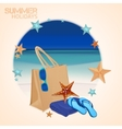 Beach Bag set vector image