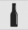 beer bottle icon in flat style alcohol bottle on vector image vector image