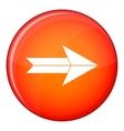 Big arrow icon flat style vector image vector image