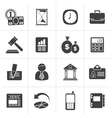 Black Business Office and Finance Icons vector image vector image